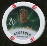 2013 Topps Chipz Silver #YC Yoenis Cespedes