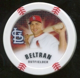 2013 Topps Chipz Glow in the Dark #CB Carlos Beltran