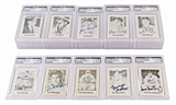 1978 Grand Slam Autographed PSA/DNA Authenticated Lot (49 Autographs!) DiMaggio / Musial / Reese