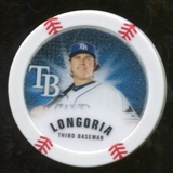 2013 Topps Chipz Glow in the Dark #EL Evan Longoria