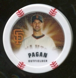 2013 Topps Chipz Glow in the Dark #AP Angel Pagan