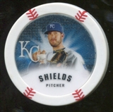 2013 Topps Chipz Glow in the Dark #JSH James Shields