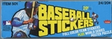 1979 Fleer Baseball Logo Stickers Box
