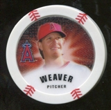 2013 Topps Chipz Glow in the Dark #JW Jered Weaver