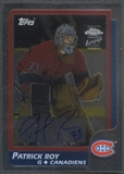 2002/03 Topps Chrome #CTA Patrick Roy Rookie Reprint Auto #257/400