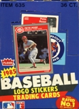 1985 Fleer Baseball Wax Box