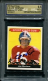 2000 Sport Kings #49 Joe Montana Auto #067/249 (Montana COA) USA 9 (MINT)