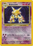 Pokemon Base Set 1 Single Alakazam 1/102 - SLIGHT PLAY (SP)