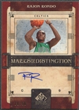 2006/07 SP Signature Edition #RR Rajon Rondo Marks of Distinction Rookie Auto #18/50