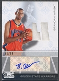 2007/08 Topps Luxury Box #BW Brandan Wright Rookie Jersey Auto #51/99