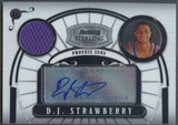 2007/08 Bowman Sterling #DJS1 D.J. Strawberry Rookie Jersey Auto #121/218