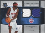 2006/07 Ultimate Collection #UJRH Richard Hamilton Dual Jersey #13/25