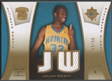 2007/08 Ultimate Collection #JW Julian Wright Materials Gold Rookie Jersey #59/99