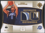 2007/08 Ultimate Collection #DW Deron Williams Materials Patch #08/25