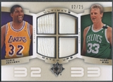 2007/08 Ultimate Collection #JB Magic Johnson & Larry Bird Matchups Patch #02/25