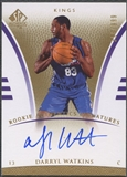 2007/08 SP Authentic #108 Darryl Watkins Rookie Auto /999