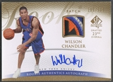 2007/08 SP Authentic #132 Wilson Chandler Rookie Patch Auto #195/599