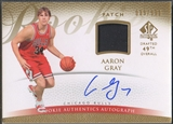 2007/08 SP Authentic #148 Aaron Gray Rookie Patch Auto /599