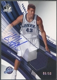 2004/05 SP Authentic #KH Kris Humphries Fabrics Rookie Jersey Auto #06/50