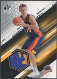 2004/05 SP Authentic #BI Andris Biedrins Fabrics Rookie Patch #17/50