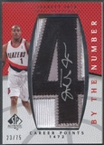 "2007/08 SP Authentic #BNJJ Jarrett Jack By The Number ""4"" Patch Auto #23/75"