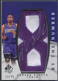 "2007/08 SP Authentic #BNSA Shareef Abdur-Rahim By The Number ""8"" Patch Auto #11/75"