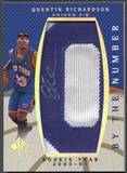 "2007/08 SP Authentic #BNQR Quentin Richardson By The Number Rookie Year ""0"" Patch Auto #34/50"
