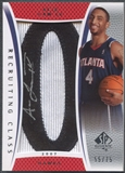 "2007/08 SP Authentic #RCAL Acie Law Recruiting Class 2007 Rookie Number ""0"" Patch Auto #55/75"