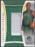 "2007/08 SP Authentic #RCGD Glen Davis Recruiting Class 2007 Rookie Number ""0"" Patch Auto #44/75"