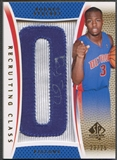 "2007/08 SP Authentic #RCRS Rodney Stuckey Recruiting Class Team Name Rookie Letter ""O"" Patch Auto #23/25"