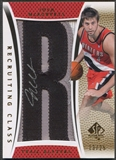 "2007/08 SP Authentic #RCJM Josh McRoberts Recruiting Class Team Name Rookie Letter ""R"" Patch Auto #13/25"