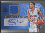 2007/08 SP Game Used #SSTP Tayshaun Prince Signature Swatch Jersey Auto #23/30