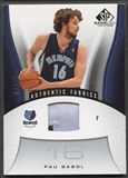 2006/07 SP Game Used #145 Pau Gasol Patch #01/25