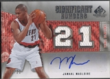 2007/08 SP Game Used #JM Jamaal Magloire Significant Numbers Jersey Auto #02/21