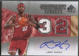 2007/08 SP Game Used #LH Larry Hughes Significant Numbers Jersey Auto #11/32