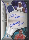 2006/07 SP Game Used #CB Tyson Chandler & Kwame Brown Authentic Fabrics Dual Jersey Auto #50/50