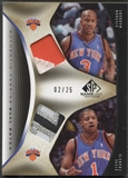 2006/07 SP Game Used #FM Steve Francis & Stephon Marbury Authentic Fabrics Dual Patch #02/25