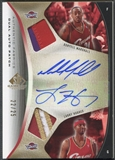 2006/07 SP Game Used #HM Larry Hughes & Donyell Marshall Authentic Fabrics Dual Patch Auto #22/25