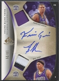 2006/07 SP Game Used #GB Mike Bibby & Francisco Garcia Authentic Fabrics Dual Patch Auto #10/25