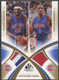 2005/06 SP Game Used #HB Richard Hamilton & Chauncey Billups Authentic Fabrics Dual Gold Patch #04/10