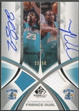 2005/06 SP Game Used #SM J.R. Smith & Jamaal Magloire Authentic Fabrics Dual Jersey Auto #23/50