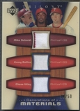 2005 Upper Deck Trilogy #SRU Mike Schmidt Jimmy Rollins Chase Utley Generations of Materials Jersey #39/50