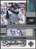 2005 Ultimate Collection #CC Carl Crawford Baseball Stars Signatures Auto #15/25