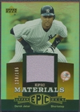 2006 Upper Deck Epic #DJ1 Derek Jeter Materials Orange Jersey #128/185