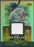 2006 Upper Deck Epic #KP2 Kirby Puckett Materials Dark Orange Jersey #017/155