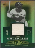 2006 Upper Deck Epic #CL1 Roberto Clemente Materials Green Jersey #63/75