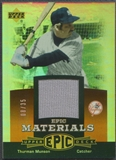2006 Upper Deck Epic #TH2 Thurman Munson Materials Dark Orange Jersey #08/35