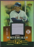 2006 Upper Deck Epic #WB1 Wade Boggs Materials Dark Orange Jersey #059/185