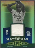 2006 Upper Deck Epic #BG Bob Gibson Materials Blue Jersey #78/99