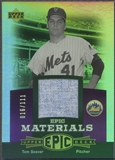 2006 Upper Deck Epic #TS2 Tom Seaver Materials Dark Purple Jersey #016/111